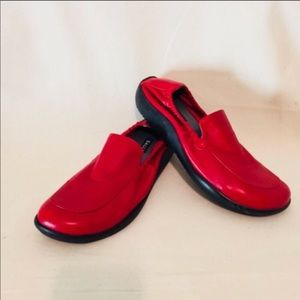 Bally Red Leather Slip On Shoe Size 8